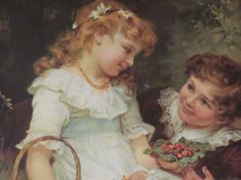 "Vintage Fredrick Morgan ""Sweethearts"" Giclee Print 20"" X 16"" Victorian Deco - $32.00"