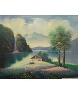 """Original Oil Painting on Canvas by Tom Herr """"Cottage Spring Collection"""" - $50.00"""