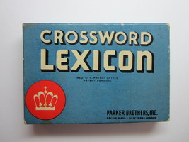 Vintage Parker Brothers Crossword Lexicon Card Game by Parker Brothers -... - $11.99