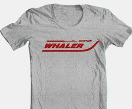 Boston Whaler T-shirt fishing boating beach ocean cotton blend graphic grey tee image 1