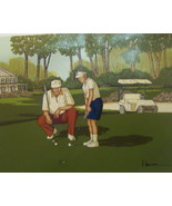 """A Signed """"H. Hargrove"""" Serigraph """"GOLF"""" 12X16 - $50.00"""