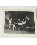Peasant and the Broker Steel Engraving  by Johann Burger - $35.00