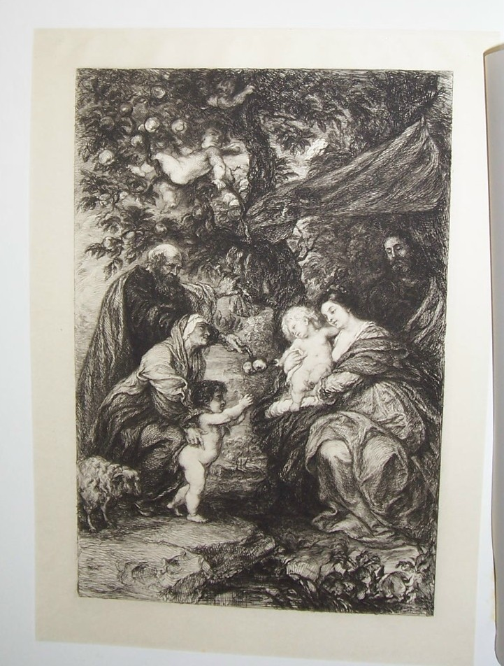 The Holy Family Steel Engraving by William Unger 1800's