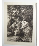 The Holy Family Steel Engraving by William Unger 1800's - $35.00