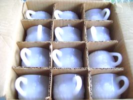 Jeanette Milk Glass Punch cups in Original Box - $25.00
