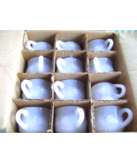 Jeanette Milk Glass Punch cups in Original Box - $25.00