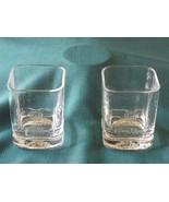 Crown Royal 2000 Heavy Base Rock Glasses Set Of Two VGC - $9.00