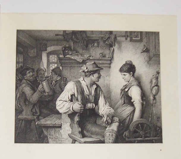 Primary image for In Love Steel Engraving by Karl Ernst Forberg 1800's
