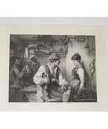 In Love Steel Engraving by Karl Ernst Forberg 1800's - $35.00