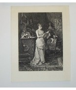 A Young Woman Steel Engraving by Johann Eisenhardt - $35.00