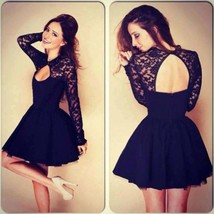 Casual Sexy Lace Backless Mini Dress - $24.00