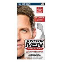 Just For Men Autostop Hair Color, Light Brown One Application Kit - $15.49