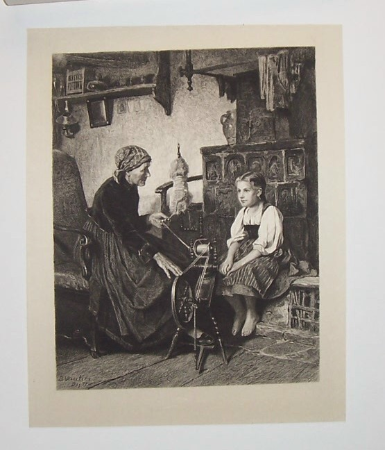 Little Barefoot Steel Engraving by F.L. Meyer Artist: Benjam