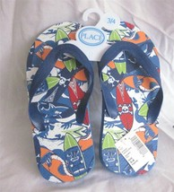 Youth Size 3-4 Colorful Beach Summer  Flip Flop Sandals by Place Blue Print - $5.87