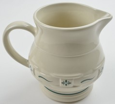 Longaberger Pottery USA Woven Traditions Heritage Green 32 Oz Pitcher Ch... - $22.99