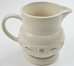 Longaberger Pottery USA Woven Traditions Heritage Green 64 Oz Pitcher China - $42.99