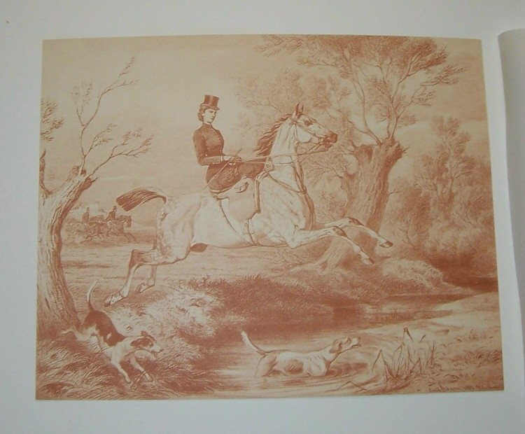Empress of Austria Hunting Steel Engraving  1800's