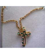 DECEMBER CROSS BIRTHSTONE NECKLACE - $16.00