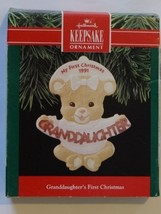 Hallmark Keepsake Ornament Granddaughters First Christmas 1991 (QX5119) - $15.00