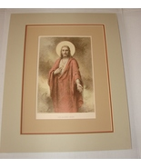 The Sacred Heart by  C. Bosseron Chambers Double Matted Print (1933) St ... - $85.00