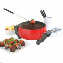 Babycakes Electric Nonstick Fondue Pot in Red w... - $47.45