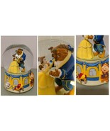 Beauty And The Beast musical Snow Globe 1991 Rare collectible Disney Ene... - $97.99