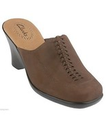 Clarks Women Suede Leather Platform Wedge Slip-on Comfort Mules Shoes 9 ... - $69.23