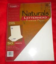 "Geographics® ""Naturals"" LINEN Letterhead COMPUT... - $12.56"