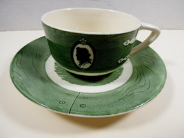VTG by Royal China Colonial Homestead green tea cup & saucer set - $19.80