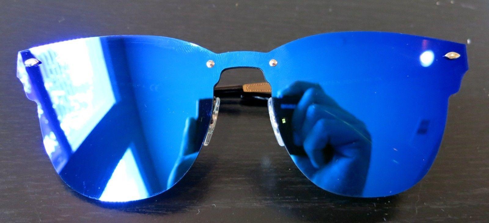 8344174af7 Rayban Blaze Clubmaster Sunglasses RB3576N 153 7V 47 Violet Blue Mirror club