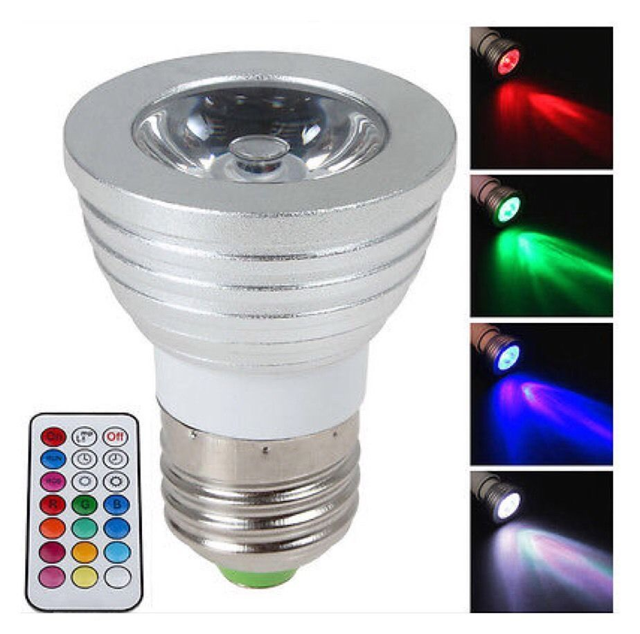 Magic 16 Color Changing RGBLED  E27 Bulb 3W Light Lamp & Remote Controller AB5