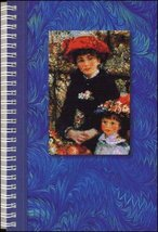 Blue Lined Journal Renoir Sisters 140 pages for thoughts ideas drawings  - $8.50