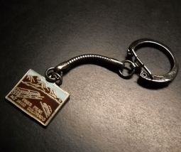 Pikes Peak Key Chain Colorado Summit House Metal and Red Blue Gold Brown Enamel - $8.99