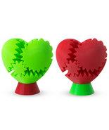 LeLuv 3D Printed Heart Gear Twister W/ DISPLAY STAND - Brain Teaser Uniq... - $35.99