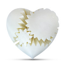 LeLuv Large 3D Printed Heart Gear Twister Brain Teaser Toy Nerd Gift, White - $29.99