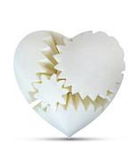 LeLuv Large 3D Printed Heart Gear Twister Brain Teaser Toy Nerd Gift, White - $29.99