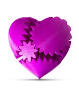 LeLuv Large 3D Printed Heart Gear Twister Brain Teaser Toy Nerd Gift, Pu... - $29.99