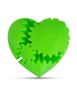 LeLuv Large 3D Printed Heart Gear Twister Brain Teaser Toy Nerd Gift, Green - $29.99