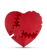 LeLuv Large 3D Printed Heart Gear Twister Brain Teaser Toy Nerd Gift, Red - $29.99