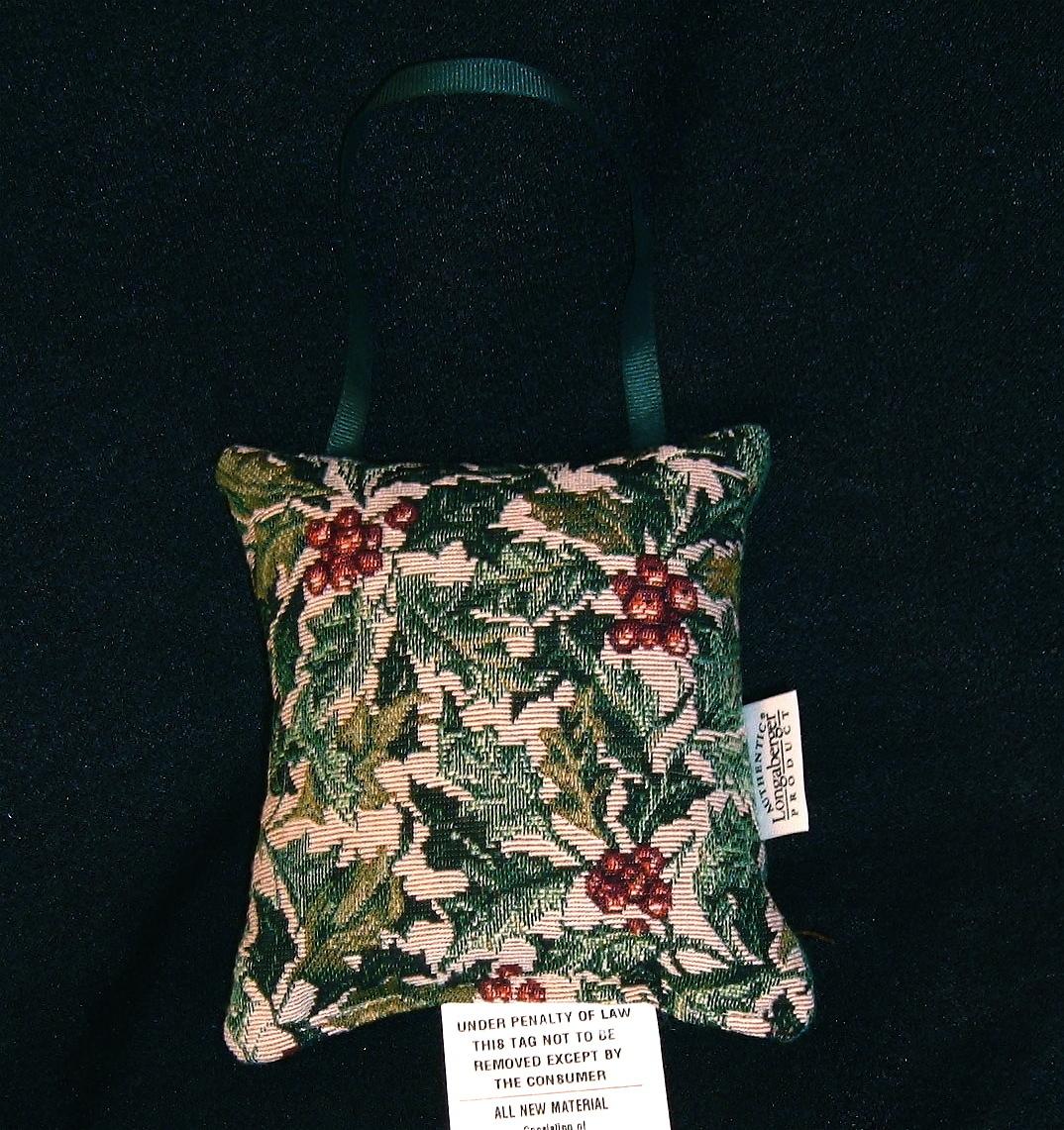AMERICAN HOLLY Christmas Pillow Tapestry Doorknob Hanger Holiday NIP Longaberger