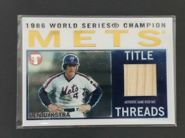 2005 Topps Len Dykstra Legends Edition Authentic Game-Used Bat BB Card T... - $14.01