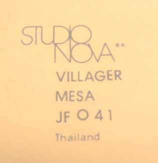 9 Mikasa STUDIO NOVA Stoneware Villager Mesa Cup JF041