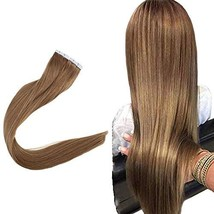 Easyouth Remy Hair 16inch Tape in Extensions Adhesive Color 10 Natural Human Hai