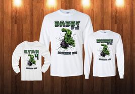 Hulk Birthday Long Sleeve Shirt Personalized Custom white sweatshirt - $18.95+