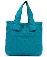 Marc Jacobs Bag Diamond Quilted Nylon Large Knot Tote Peacock NEW - $173.25