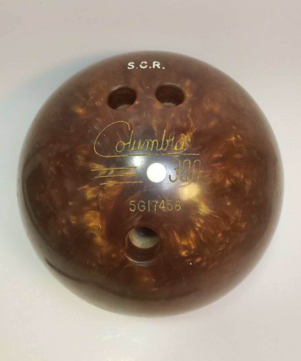 Primary image for Columbia 300 White Dot Vintage Drilled Bowling Ball