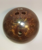 Columbia 300 White Dot Vintage Drilled Bowling Ball - $12.16