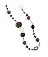 """NEW Women's Fashion Necklace 38"""" Multibead Endless Shell, Beaded, Link C... - $22.95"""