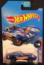 Hot Wheels Blue '69 Corvette Racer 1:64 Diecast HW Race Team 2/5 New 352... - $4.95