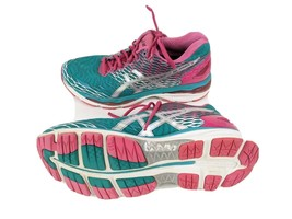 Asics Gel Nimbus 18 Womens US 9 EUR 40.5 Green Pink Athletic Shoes - $18.70